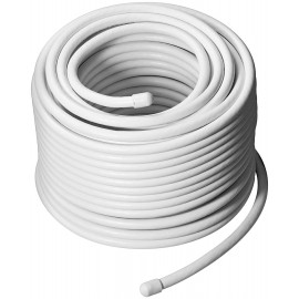 100 dB coax- antenna cable, 2x shielded, CCS, white, 50 m - Class A tested, for digital SAT- and CATV-cable systems