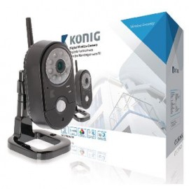 2.4 GHz Wireless Camera Indoor VGA Black