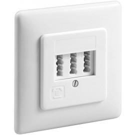 3  TAE-NFN wall plate, flush mount, white - screw mount