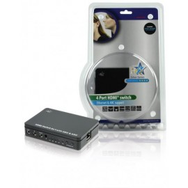 4-Port HDMI Switch Black