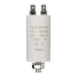 Capacitor 2.5uf / 450 v + earth Cod EAN: 5412810230747