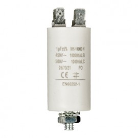 Capacitor 1.0uf / 450 v + earth Cod EAN: 5412810230686
