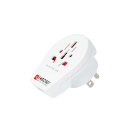 Adaptor priza universal World -> USA  cu USB Skross  Cod EAN: 7640166320708<br />