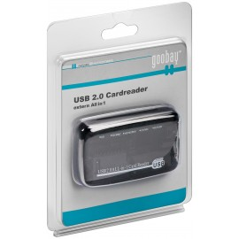 All-in-one card reader USB 2.0 - 6 card slots for reading SD memory card formats
