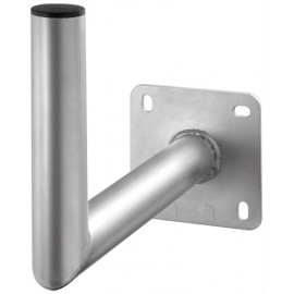Aluminium SAT dish wall bracket, grey - with 350 mm wall distance