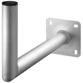 Aluminium SAT dish wall bracket, grey - with 450 mm wall distance