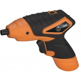 Battery-powered hand drill, 3.6 V with LED light, black-orange - for DIY use
