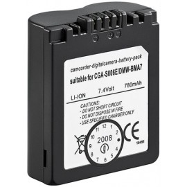 Camera Replacement battery CGA-S006E, DMW-BMA7 - for N97, DMC-FZ16, DMC-FZ18, DMC-FZ28, DMC-FZ30, DMC-FZ38, DMC-FZ50, DMC-FZ7, DMC-FZ8, Lumix DMC-FZ16, Lumix DMC-FZ18, Lu