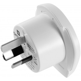 Country Adapter World to Australia/China, Australian male (type I, AS 3112), white - suitable for equipment with earthed & unearthed plugs (2- & 3-pole)