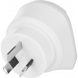 Country Adapter Europa to South Africa, South African male (type M, BS 546, 15-A), white - suitable for equipment with earthed & unearthed plugs (2- & 3-pole)