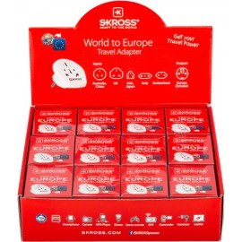 Country Adapter World to Europe sales package - contains 12 Skross Country Adapters World to Europe