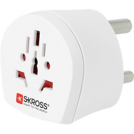 Country Adapter World to South Africa, South African male (type M, BS 546, 15-A), white - suitable for equipment with earthed & unearthed plugs (2- & 3-pole)