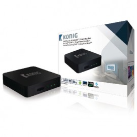 4K DVB-T2 / DVB-S2 Android Streaming Box with Fly Mouse