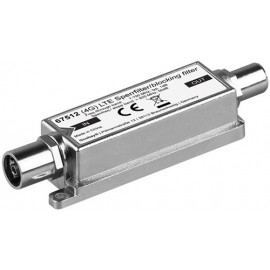 LTE/4G Blocking Filter, Coaxial male - Coaxial female, Coaxial male - for interference-free DVB-T / DVB-T2 HD reception