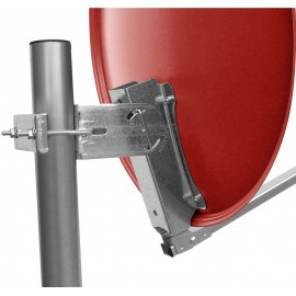 60 cm aluminium satellite dish, brick - for individual/multiple subscribers and those with particularly stable feed arms