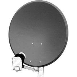 60 cm aluminium satellite dish, anthracite - for individual/multiple subscribers and those with particularly stable feed arms