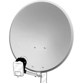 60 cm aluminium satellite dish, light gray - for individual/multiple subscribers and those with particularly stable feed arms