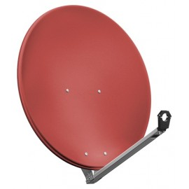 80 cm aluminium satellite dish, brick - for individual/multiple subscribers or multi-feed systems with particularly stable feed arms
