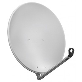 80 cm aluminium satellite dish, light gray - for individual/multiple subscribers or multi-feed systems with particularly stable feed arms