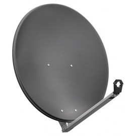 80 cm aluminium satellite dish, anthracite - for individual/multiple subscribers or multi-feed systems with particularly stable feed arms