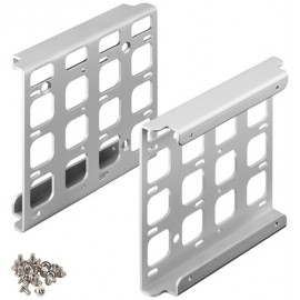 Quadruple 3.5'' hard disk installation frame to 5.25'', silver - for installation of up to four HDD / SSD hard disks