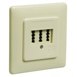 3  TAE-NFN wall plate, flush mount, beige - screw mount