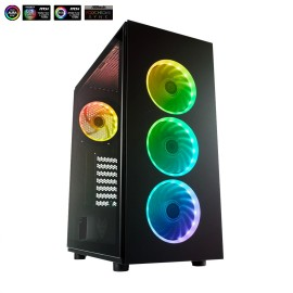 CARCASA FSP CMT340 B MID TOWER ATX, Color: Black, Materials: SPCC, Plastic, Glasses x2, Expansions Slots: 7, MB Support: ATX, Micro ATX, ITX, External I/O port: 2x USB 3.0, HD Audio, Power Supply type: ATX, 2x 3.5 HDD, 2x 2.5 SSD, FAN Including: Front: Ad