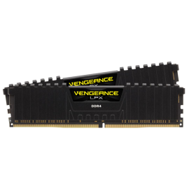 Corsair DDR4 8GB 2666MHz C16 KIT Black, Vengeance LPX, Memory kit 2x4GB, SPD Speed: 2133 MHz, Speed Rating: PC4-21300 (2666MHz), DIMM Format, Profile: XMP 2.0, Memory Pin: 288.