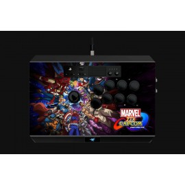 Gaming Controller Razer Panthera Marvel vs Capcom Arcade Stick for PS4, 10 tournament-grade Sanwa buttons, Authentic Sanwa joystick with ball top, Easy one-touch access to internals and storage, Fully accessible internals and storage compartments for easy