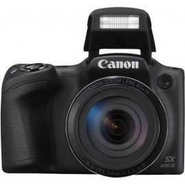 "Camera foto Canon PowerShot SX430IS BLACK, 20 MP, senzor CCD tip1/2,3, 45x Zoom optic, 90x Zoom digital, 3"" TFT, GPS Mobil,procesor imagine DIGIC 4+, focalizare TTL, ISO 1600, WiFi, efectefotografice, filmare HD, compatibil SD/SDHC/SDXC,acumulator Li"