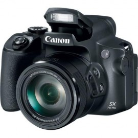 "Camera foto Canon PowerShot SX70 HS Black, 20.3 MP, senzor CMOS 1/2.3, 65x zoom optic, 3.0"" LCD, stabilizator optic de imagine IS, DIGIC 8,ISO100-3200, Servo AF approx 7.4fps, WiFi, filmare 4K movies 25 fps, compatibil  SD, SDHC, SDXC (UHS-1 Speed Cl"