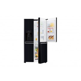 Frigider LG GSJ760WBXV, side by side 2 usi, clasa eficienta energetica A+, volum net total 601L, volum net racitor 405L, volum net congelator 196L,  display LED, senzor digital RT, Door in Door, blocare pentru copii, Smart Diagnosis, Multi air flow, 10 or
