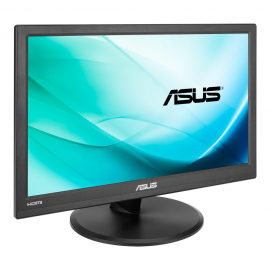 "Monitor 15.6"" ASUS VT168H, FWXGA 1366*768, Capacitive 10-point multi-touch, TN, 16:9, 50M:1, 200 cd/m2, 90/65, 10 ms, Flicker free, Low bluelight, HDMI, D-sub, USB, VESA, Kensington lock, black"
