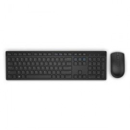 Dell Keyboard and mouse set KM636, wireless, 2.4 GHz, USB wirelessreceiver, US INT layout, Scissor Key Technology, Logitech Unifyingreceiver, battery LED indicator, Color: Black