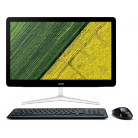 All-In-One Acer Aspire Z24-880, 23.8 FHD (1920x1080) Touch, LED Backlit, Intel Core I3-7100T (3.4GHz, 3MB), video integrat Intel HD Graphics 630, RAM 4GB DDR4 2400MHz (1x4GB), suporta maxim 16GB DDR4, SSD 128GB, ODD 8X DVD-RW drive 9.0 mm slim, Card Reade