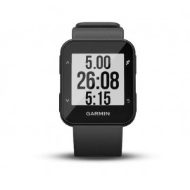 GPS Runnning Watch Garmin Forerunner 30, Grey, 128 x 128 pixels; sunlight-visible, transflective memory-in-pixel (MIP); glass lens, rechargeable lithium-ion; Smart Mode: Up to 5 days, GPS mode: Up to 8 hours, Water rating: 5 ATM, Garmin Elevate wrist hear
