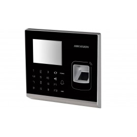 Cititor stand alone cu amprenta si card (EM 125Khz) Hikvision, DS-K1T201EF; 2.8 inch LCD-TFT Screen IP-based Fingerprint Access Cont rolTerminal; Built-in EM card reading module; Storage with 5000fingerprints, 100,000 cards and 300,000 access control even