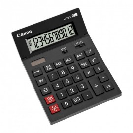 Calculator birou Canon AS2200, 12 digiti, display LCD, alimentare solara si baterie.