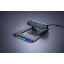 Laptop Stand Chroma Razer, Ergonomic Design - 18 degree incline for optimal viewing angles, Stay Connected with more ports - built in USB 3.0 hub adds 3 more ports to your setup, Powered by Razer Chroma, Aluminium construction, Designed for Razer Blade an