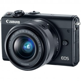 "Camera foto Canon EOS M100 kit EF-M 15-45mm f/3.5-6.3 IS STM + 22mm STM Negru, 24.2 MP, APS-C, ecran 3"" LCD rabatabil, WiFi, NFC, Bluetooth,ISO 25600, filmare full HD 59.94 imagini pe secunda, foloseste tehnologia Dual Pixel, compatibilSD/SDHC/SDXC,"