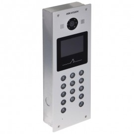 Video Intercom Hikvision DS-KD3002-VM; 3.5 Physical Touch Key 1.3 MPDoor Station, Aluminum Alloy, 3.5-inch Colorful TFT LCD; Displayresolution: 480*320, Camera resolution: HD720P, 25fps(P)/30fps(N),Visible Light Supplement; 10M/100M/1000M Self-adaptive Et