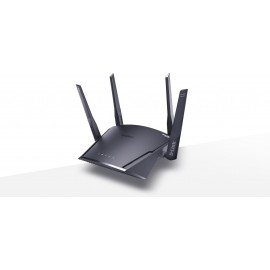 D-Link AC1900 Smart Mesh Wi-Fi Router, DIR-1960; Wireless Speed: 1900Mbps (2.4G + 5G); SDRAM: 256MB; Flash: 128MB; External Fixed Antenna (4x4+4x4); 1x 10/100/1000 WAN, 4x 10/100/1000; USB 3.0; Input: 100 to 240 V AC, 50/ 60 Hz;
