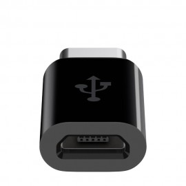 Adapor Belkin,USB Tip C, USB-C to Micro USB, Supports up to 5V/2.4A/12W charging, Supports data transfer at USB 2.0 speeds, USB-IF Certified, Premium black high polish exterior.