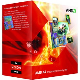 Procesor AMD A4, A4-4020, 2 nuclee, 3.20GHz (3.40GHz Max Turbo), 1MB ,FM2, GPU Radeon HD7480D, box, 65w, cooler included.