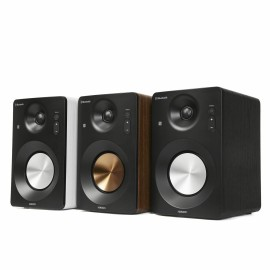 Active Hi-Fi Monitor Speakers HAV-M1100B / System 2.0  w/ Metallic Cone / 60W (30W x2) / Optical / Coaxial / AUX / USB Playback & Charger / NFC & BT 3.0 / Bass & Treble Knobs / Impedance: 8Ω x2 / Black