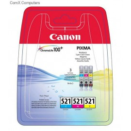 Cartus Canon CLI-521 Multipack - 3-pack - yellow, cyan, magenta - original - ink tank.