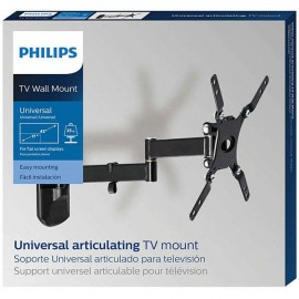 "Articulating wall mount Philips for up to 42"" - universal; Supports weights of up to 25kg (55lbs); Supports curved screen TV and Flat TV; Total movement; Compatible with VESA wall mounting: 100 x 100 mm, 200 x 100 mm, 200 x 200 mm."