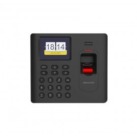 Controler de acces biometric stand alone cu tastatura, cartelede proximitate EM(125Khz) si functii de Time Attendance Hikvision DS-K 1A802EF; Capacitate de stocare: 3,000 cartele, 3,000 amprente si100,000 evenimente; Distanta de citire card: 0-5 cm; Displ