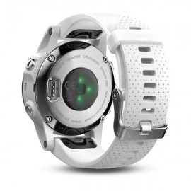 GPS Watch Garmin FENIX 5S CARRARA WHITE, 218 x 218 pixels; sunlight- visible, always-on, low power, colorful display, Rechargeable lithium- ion: Up to 9 days in smartwatch mode (depending on settings), up to 14 hours in GPS mode, and up to 40 hours in Ult