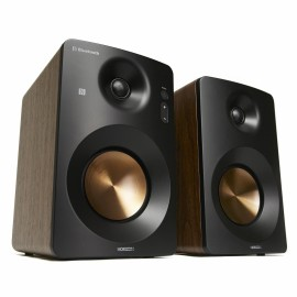 Active Hi-Fi Monitor Speakers HAV-M1100N / System 2.0  w/ Metallic Cone / 60W (30W x2) / Optical / Coaxial / AUX / USB Playback & Charger / NFC & BT 3.0 / Bass & Treble Knobs / Impedance: 8Ω x2 / Walnut